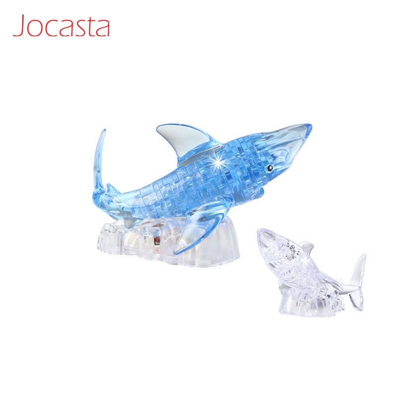 3d crystal puzzle shark instructions