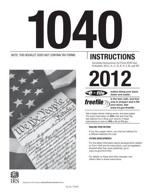 internal revenue service form 1040 instructions