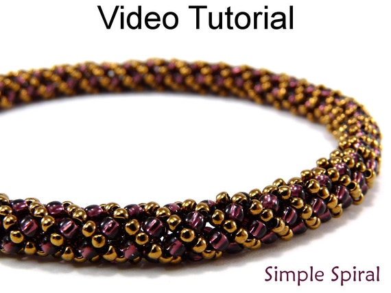 beading instructions russian spiral