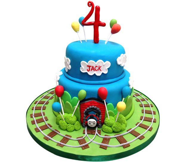 thomas the tank birthday cake instructions