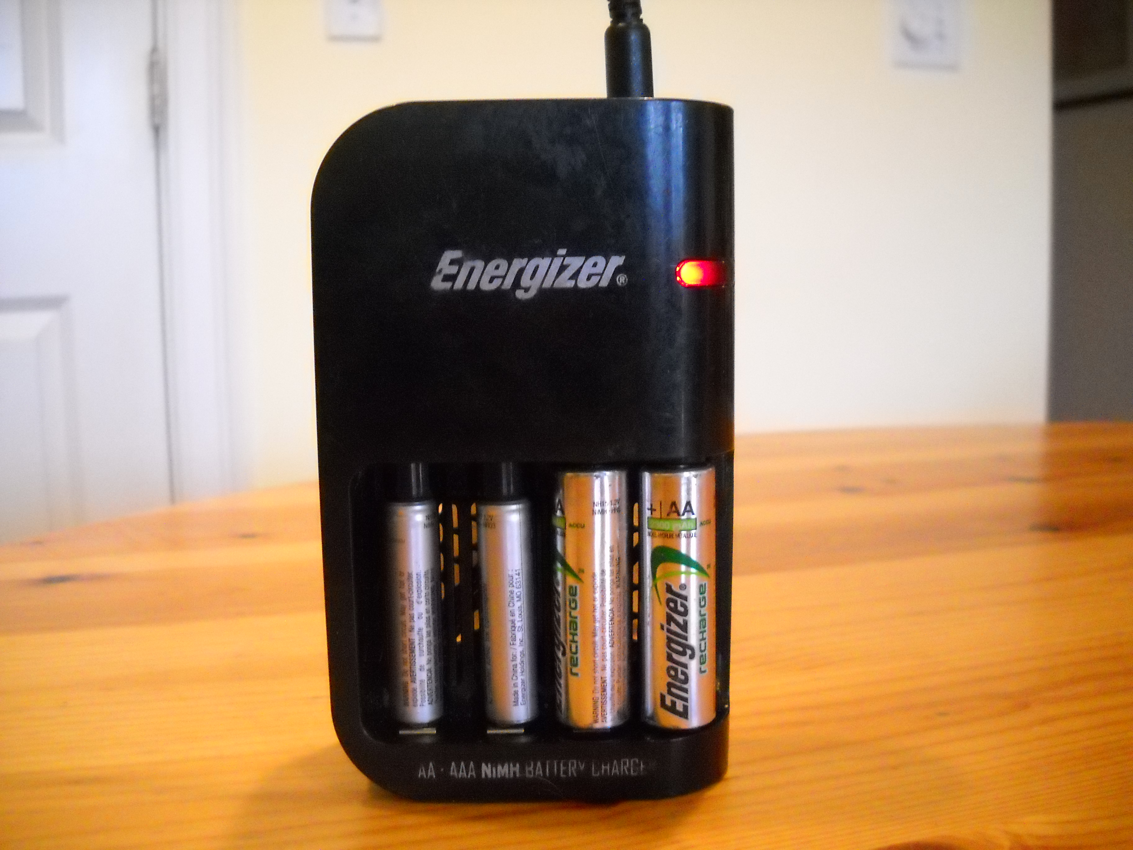energizer 15 minute battery charger instructions