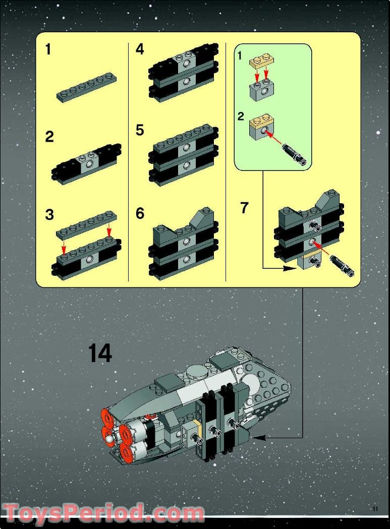 b-wing fighter lego instructions