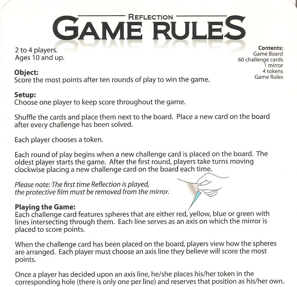 backwards board game instructions