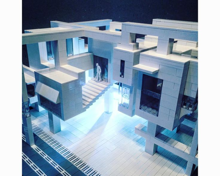 lego architecture falling water building instructions