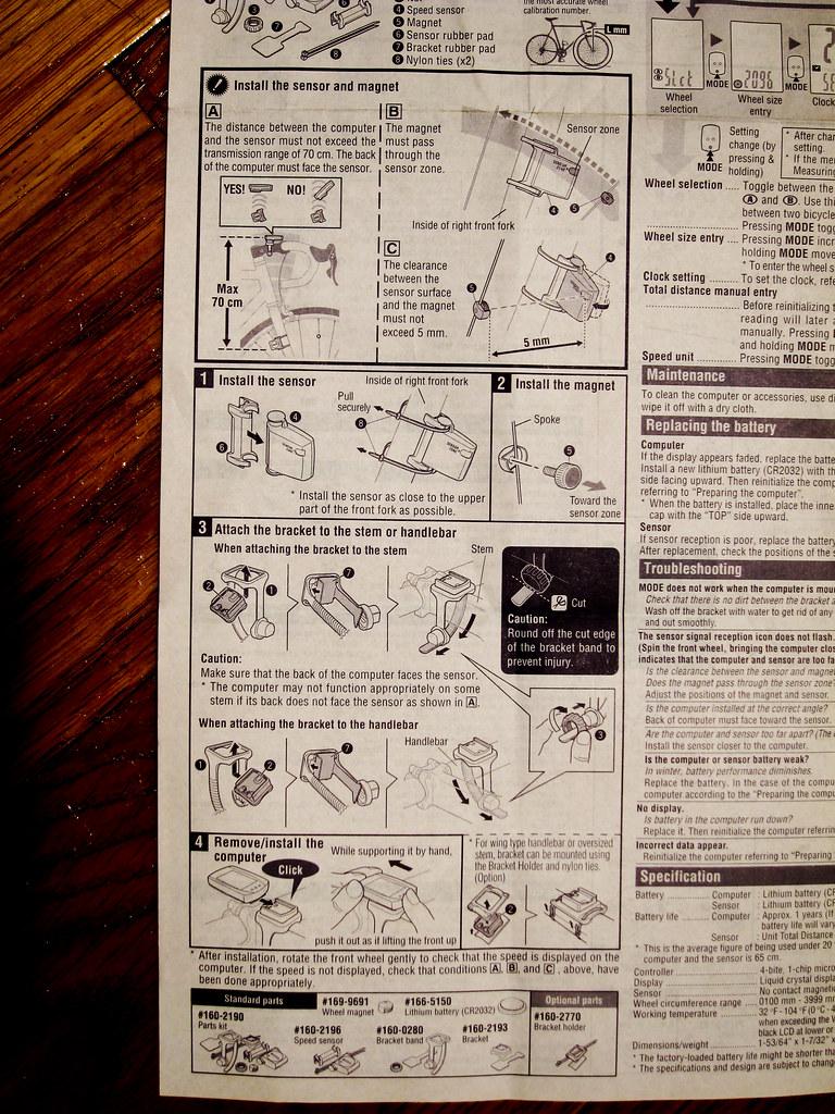 cateye strada wireless manual instructions