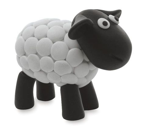 sheep clay model instructions
