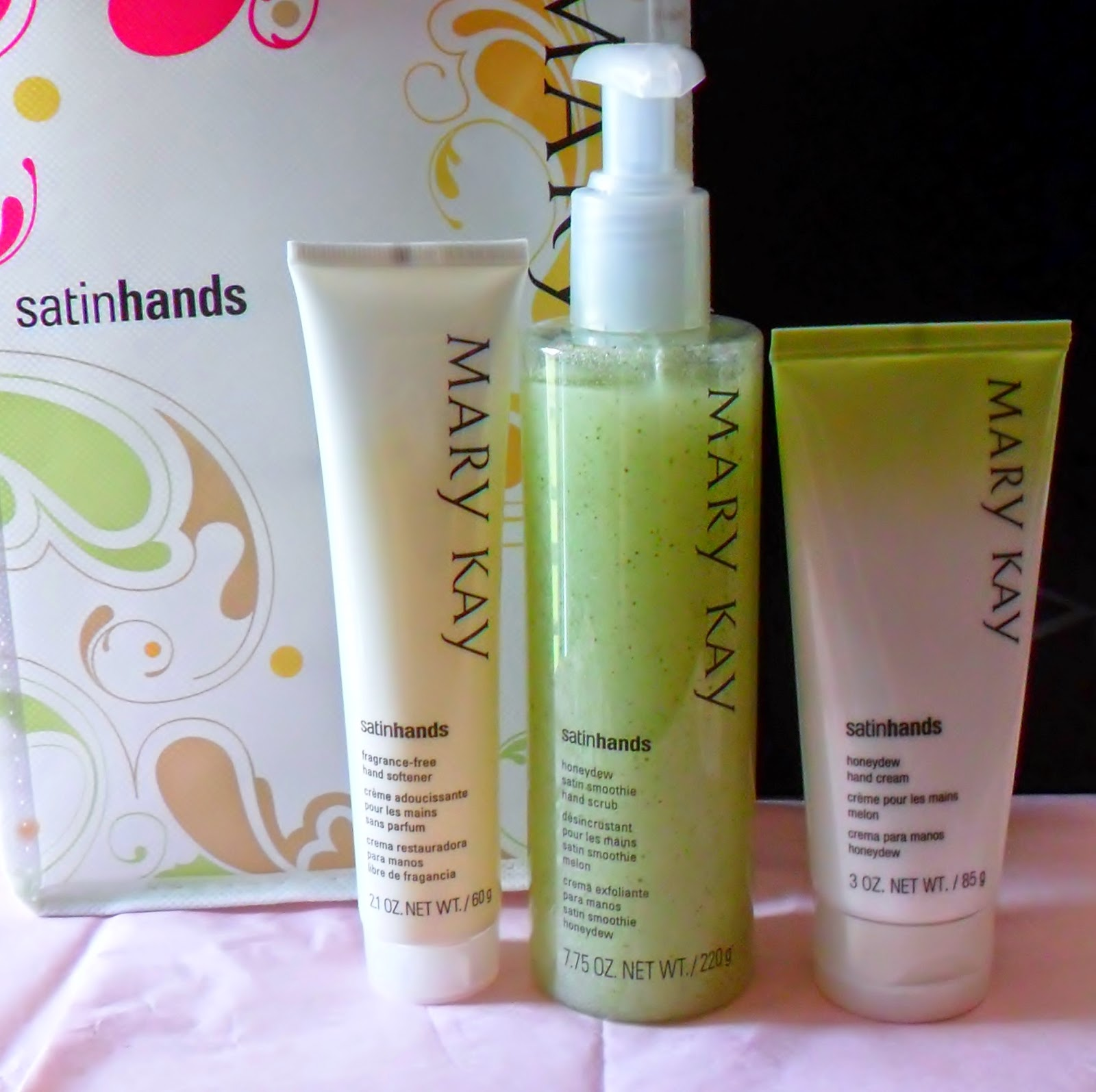 mary kay satin hands pampering set instructions