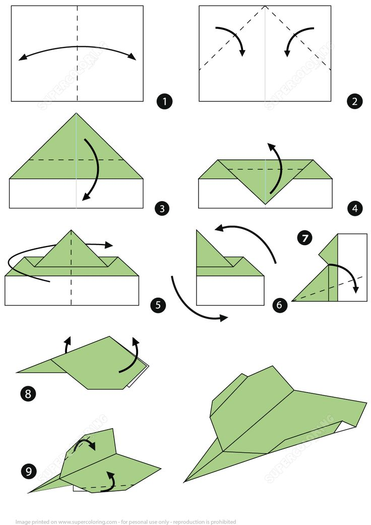 easy paper plane instructions for kids