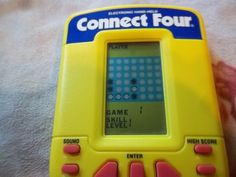 electronic handheld connect four instructions