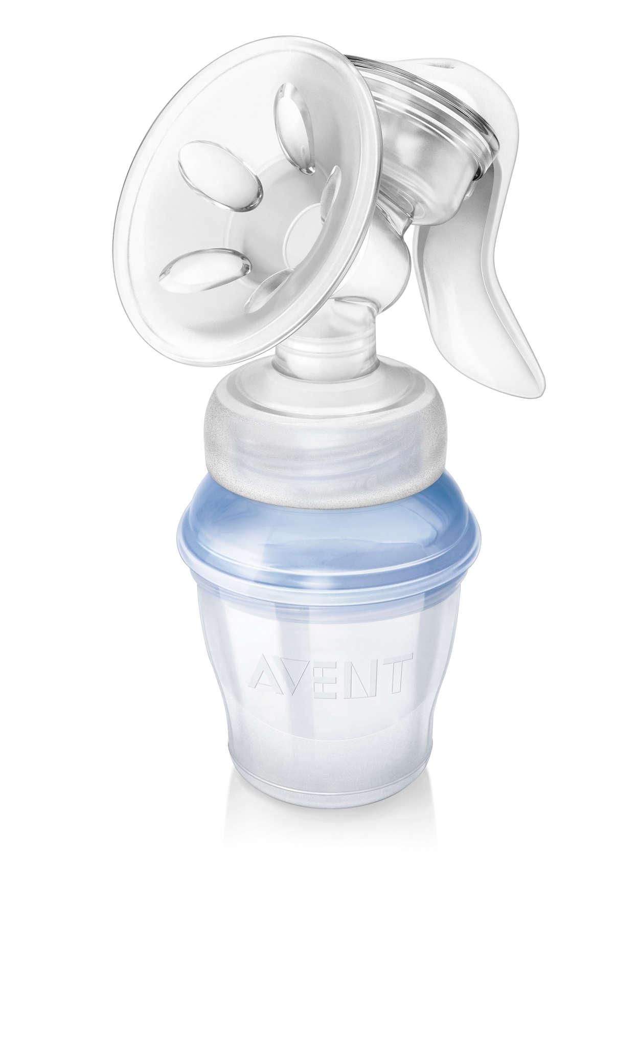 avent natural manual breast pump instructions