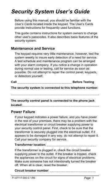 watchman alarm instruction manual