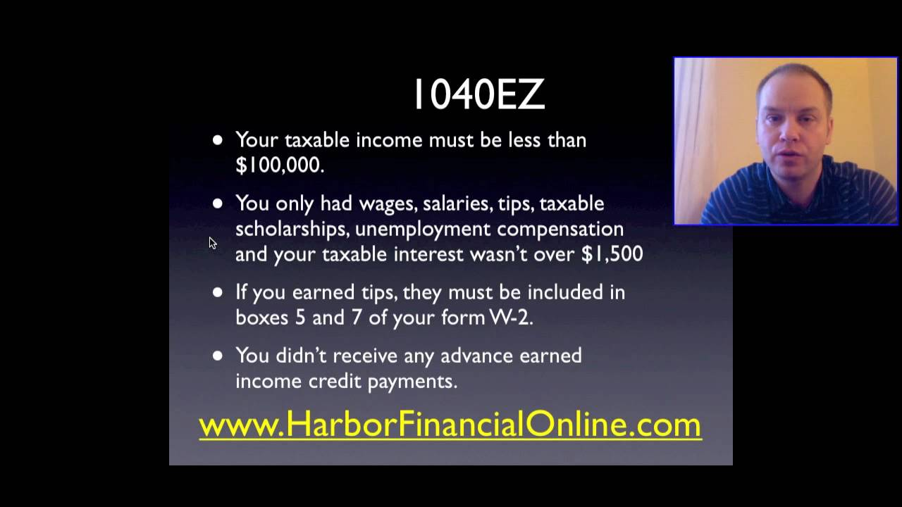 instruction booklet for tax form 1040
