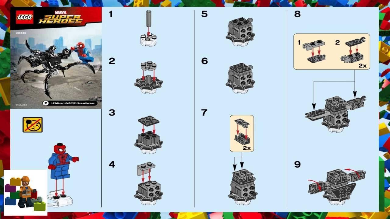 lego juniors 10665 spider-man spider-car pursuit instructions