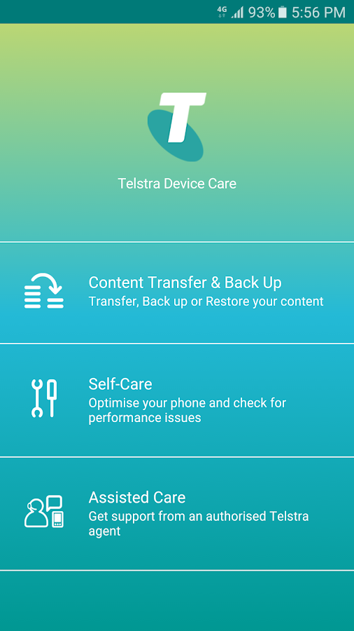 telstra device care app instructions